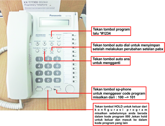 cara program pabx ht series , code program pabx panasonic