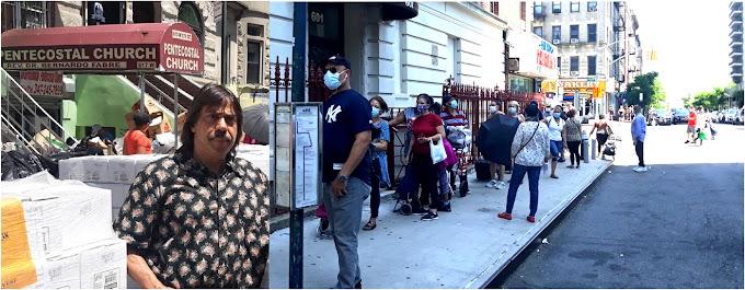 Iglesia dirigida por pastor dominicano sigue entregando miles de raciones de comida por crisis de pandemia