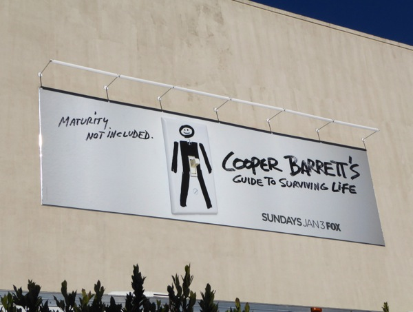 Cooper Barrett's Guide to Surviving Life series premiere billboard