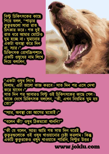 Dogs barking at night Bengali funny short story