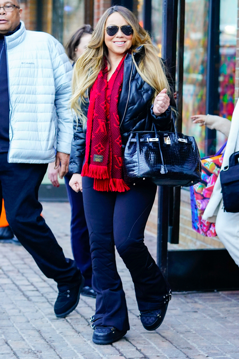 Mariah Carey carries $116K Birkin bag while last minute Christmas shopping with beau Bryan Tanaka in Aspen