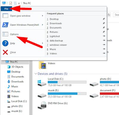 Cara Menampilkan Format Atau Ekstensi file Di Windows