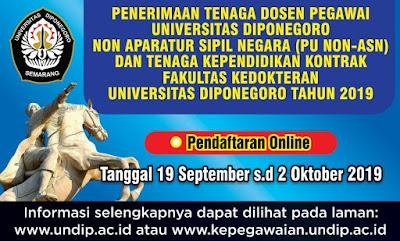 Info terbaru mengenai kesempatan berkarir kali ini berasal dari Universitas Diponegoro Penerimaan Tenaga Dosen dan Tenaga Kependidikan Fakultas Kedokteran Universitas Diponegoro