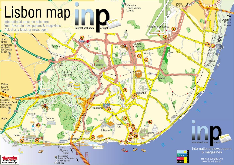 pontos turisticos lisboa mapa Mapas de Lisboa   Portugal | MapasBlog pontos turisticos lisboa mapa