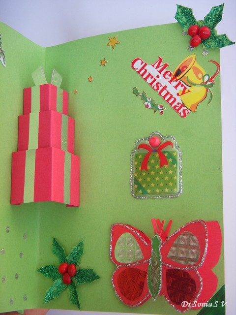 Cards crafts kids projects christmas gifts pop up card instructions gift box pop up card tutorial m4hsunfo