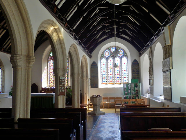 The inside of St.Clement church, Cornwall