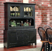Black dining room hutch with cool design