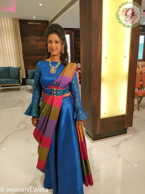 Full Sleeves Blouse with Half saree drape