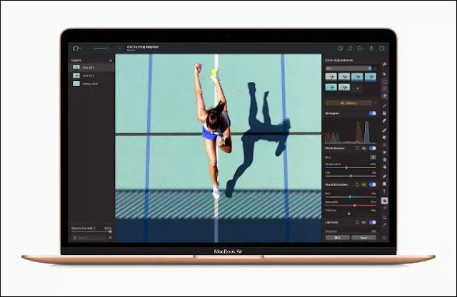 Una imagen en Adobe Lightroom en un Apple MacBook Air con M1.