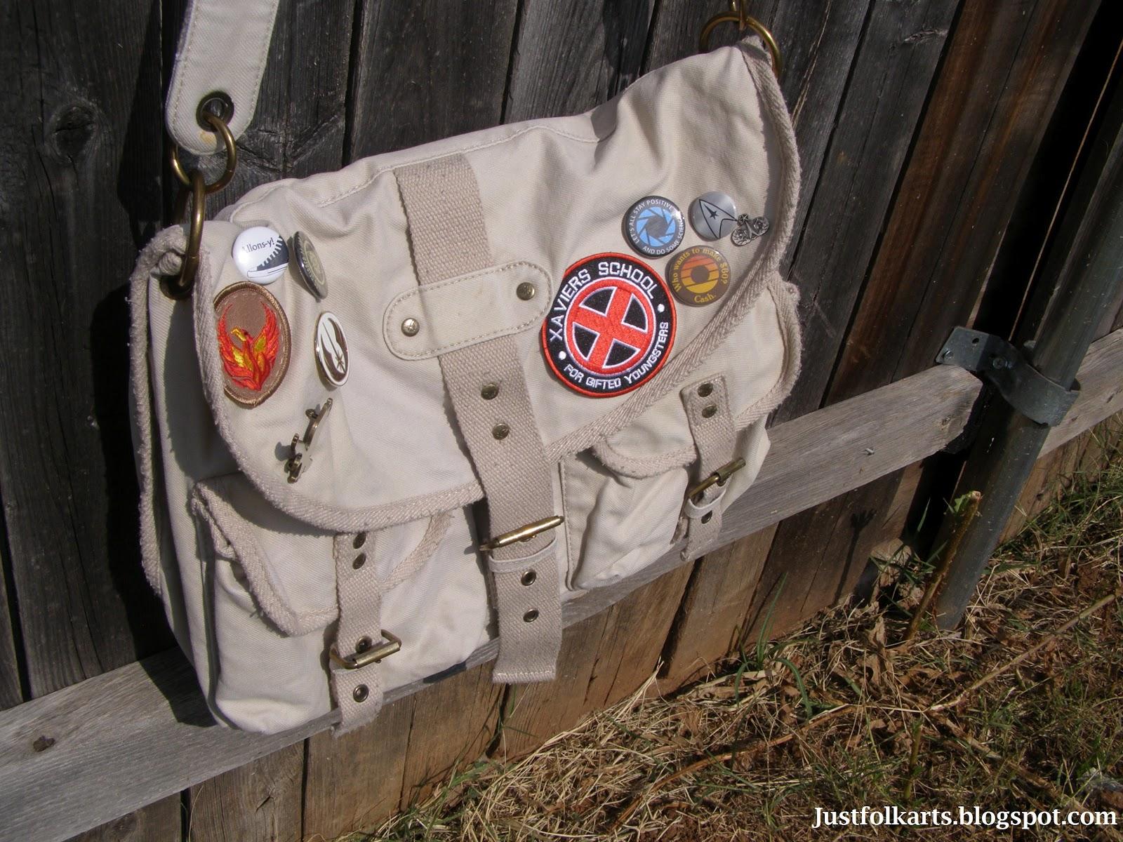 6687e47045 Just Folk Art  Nerding out a Messenger Bag