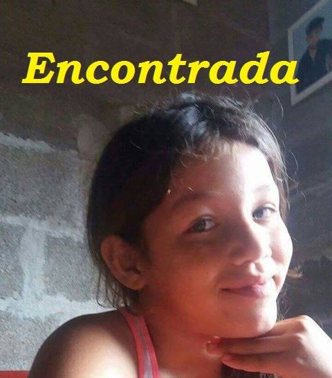 Menina Nicole que estava desaparecida foi encontrada em Pariquera-Açu