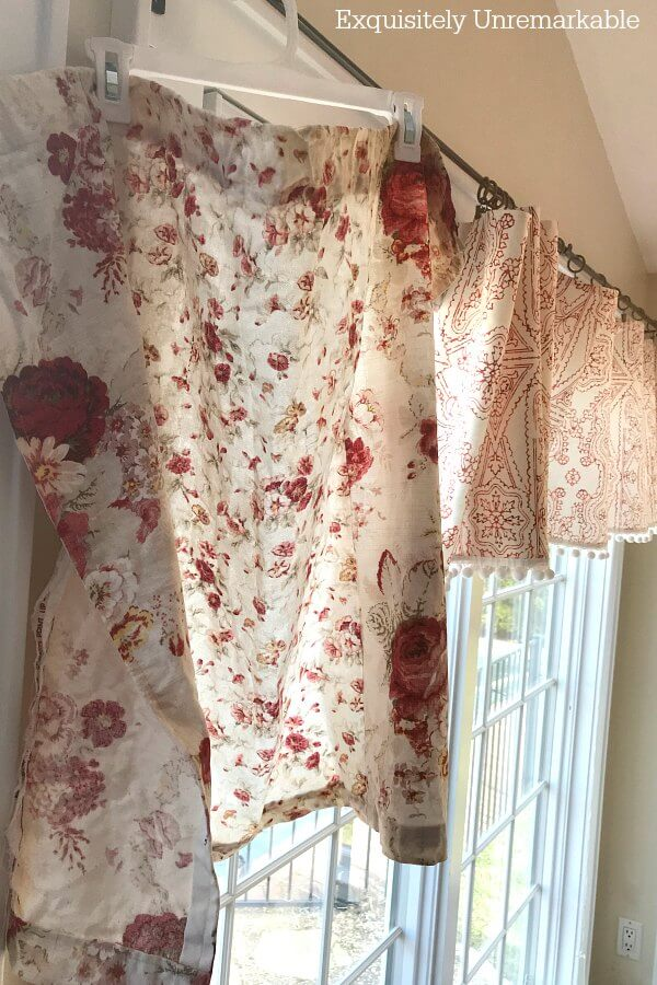 Hanging Upholstery Fabric To Dry