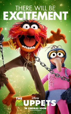 "The Muppets Character Movie Poster Set – Animal & Gonzo ""There Will Be Excitement"""