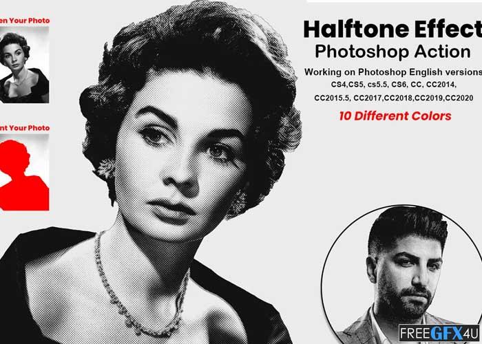 Halftone Effect Photoshop Action