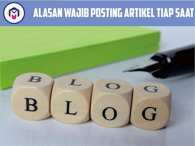 harus rajin posting agar blog semakin ramai pengunjung
