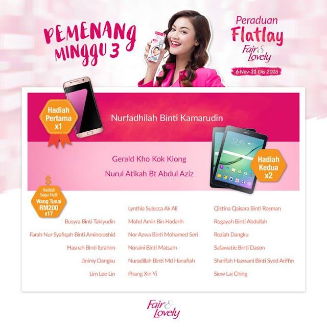 Menang Cash RM200 Contest Flatlay Fair & Lovely