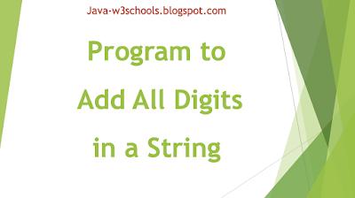 java-program-string-add-digits