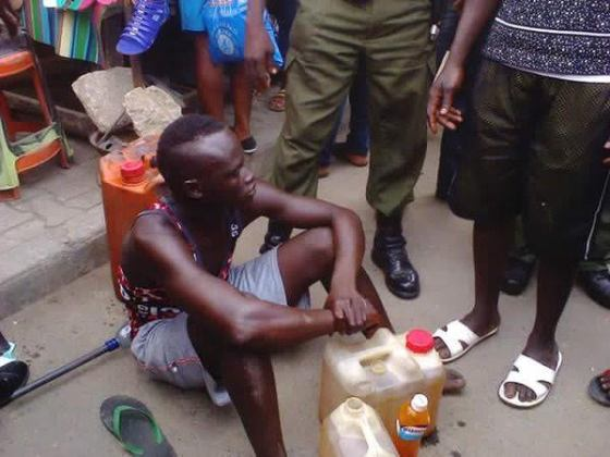 index Photo: Man caught selling kerosene mixed with palm oil as fuel