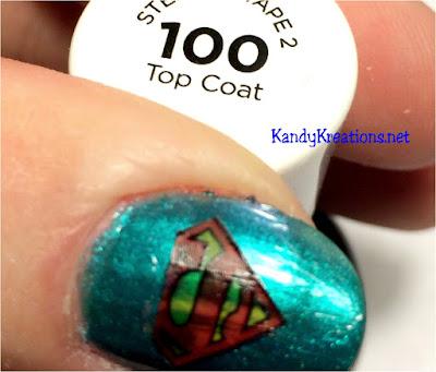 Easily make your own Superman Nail Art