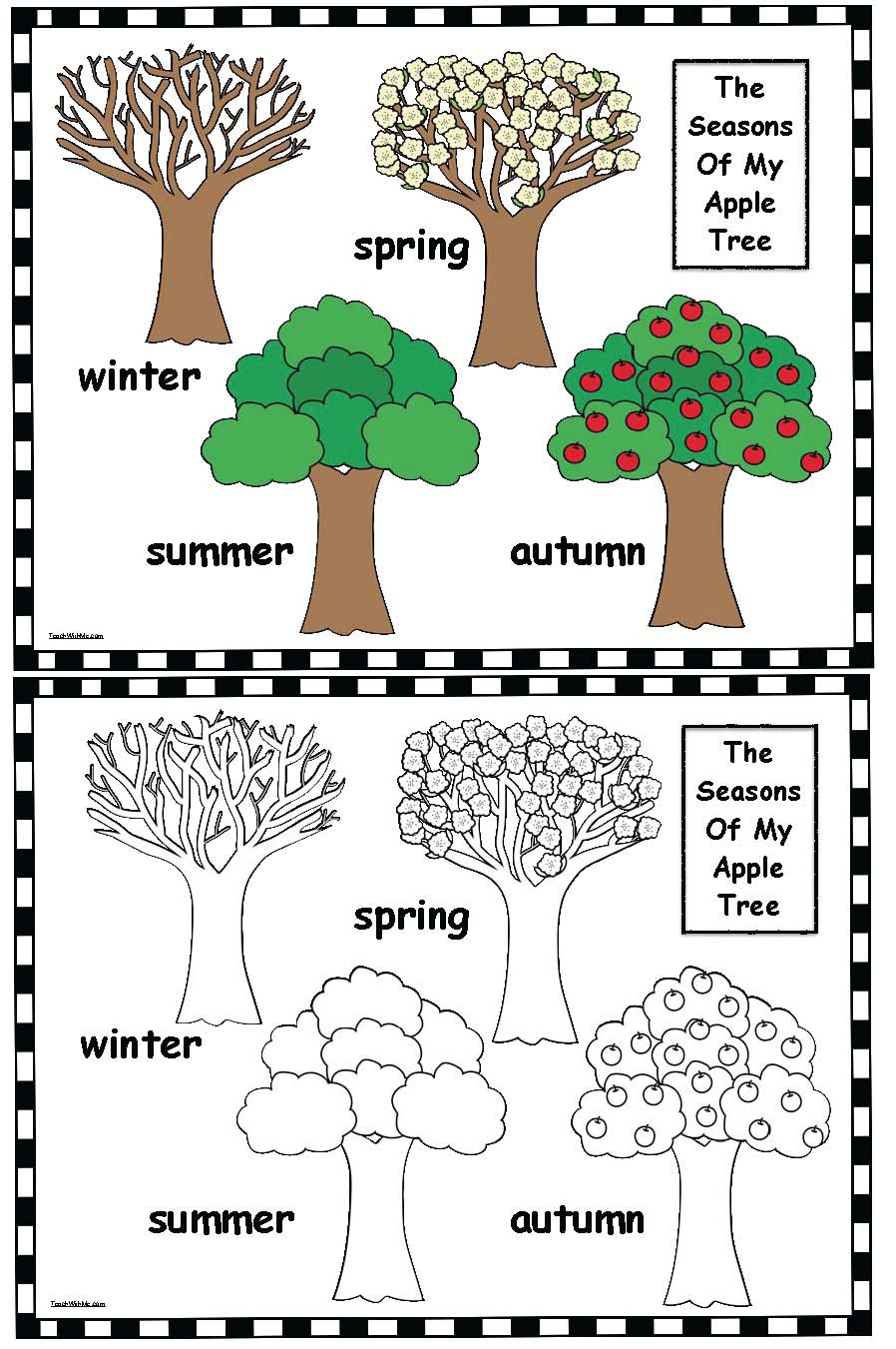 worksheet Seasons Worksheet classroom freebies seasons of my apple tree heres a quick easy and fun little worksheet with an theme to help practice the 4 seasons