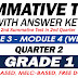 GRADE 1 SUMMATIVE TEST with Answer Key (Modules 3-4) 2ND QUARTER