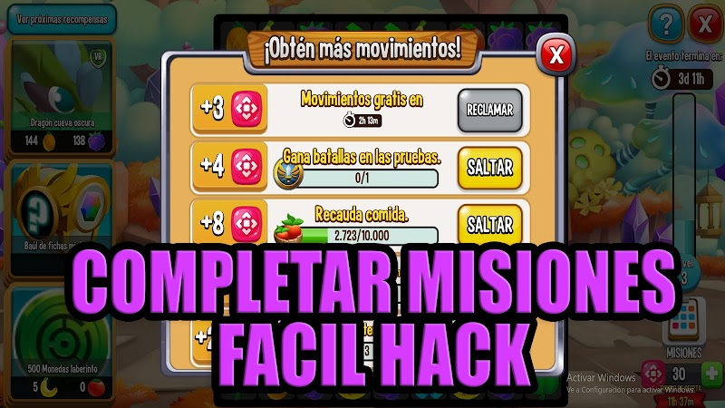 HACK COMPLETAR MISIONES FACIL EN DRAGON CITY ISLA PUZZLE
