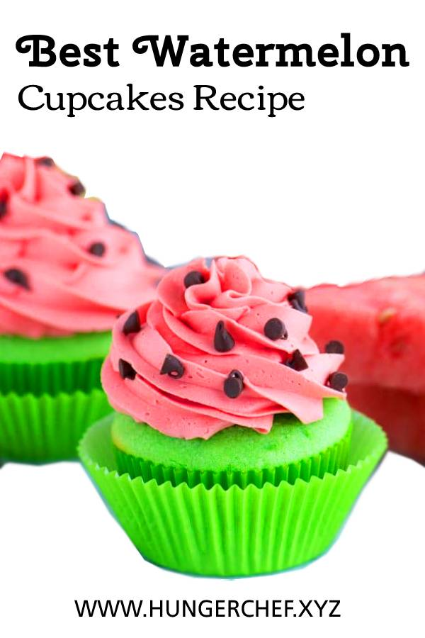Best Watermelon Cupcakes Recipe #watermelon #cupcakes #cupcakesrecipe #dessert #bestrecipe #recipeoftheday #sweettreats
