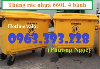 Thùng rác nhựa 660L 4 bánh xe ,xe gom rác rác nhựa HDPE giá rẻ. 02ecf8f69334756a2c25