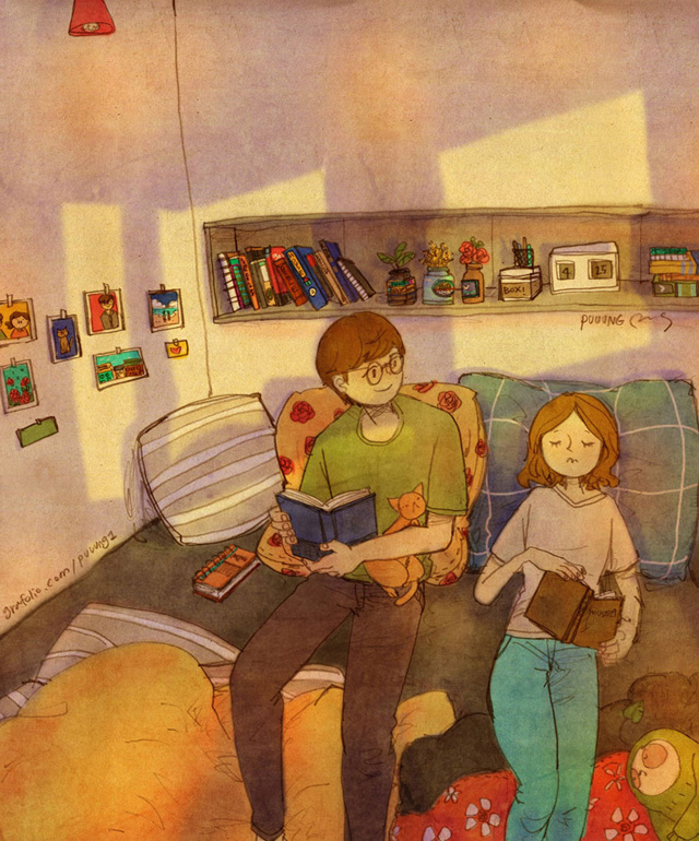 Uyuyana kadar birlikte kitap okumaktır
