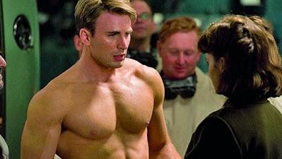 El Capitán América después de tomarse el suero
