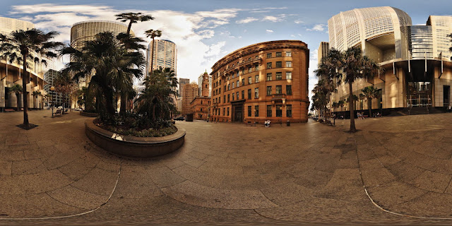 Farrer Place and the lands Office buildings, Sydney Sandstone in Hi-Fidelity 360 Panorama view by Kent Johnson.