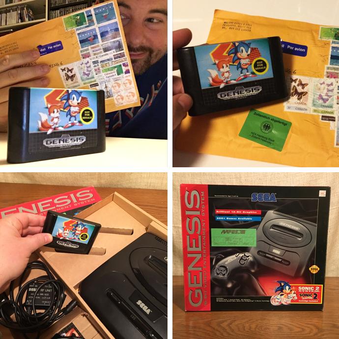Sonic the Hedgehog 2 Modul aus Kanada für das SEGA Genesis 2 System