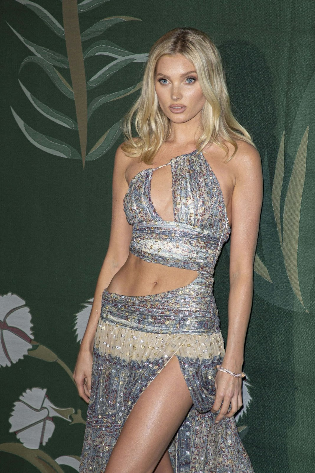 Elsa Hosk shows off skin at the 2019 Green Carpet Fashion Awards in Milan