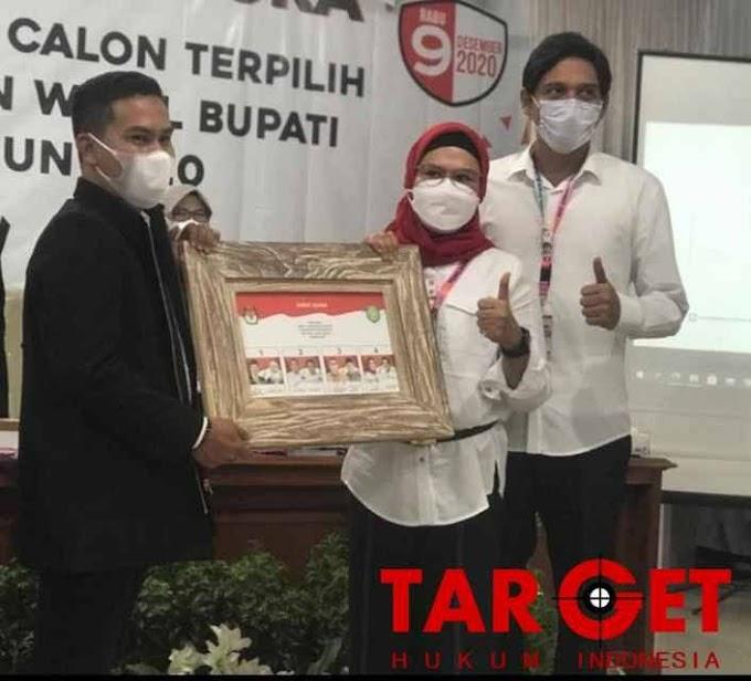 Akhirnya, KPU Menetapkan Nina Lucky Menjadi Bupati dan Wakil Bupati Indramayu Terpilih