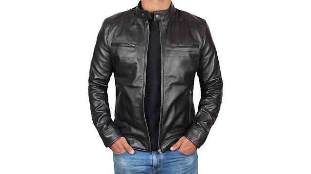 Men's Light Weight Black Leather Jacket