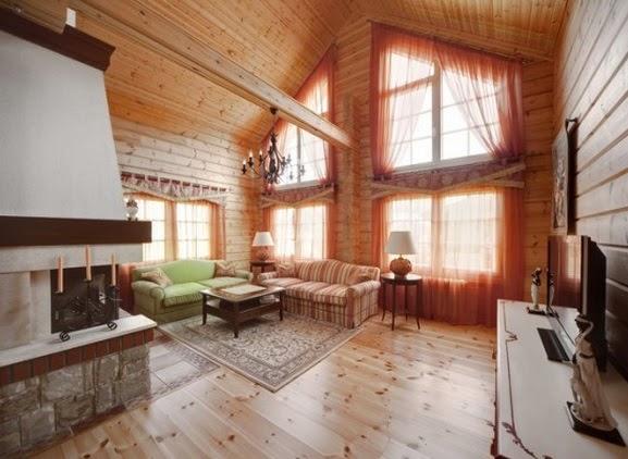 La madera como material principal en una casa