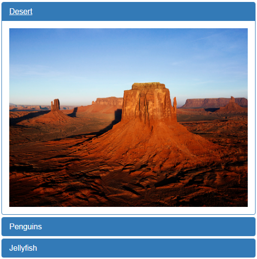 images in bootstrap accordion