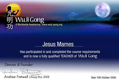Diploma de Chi Kung: Wuji Gong