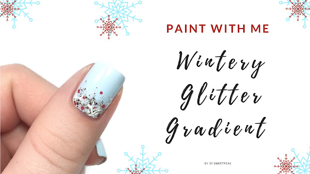 Winter Glitter Gradient Paint with Me