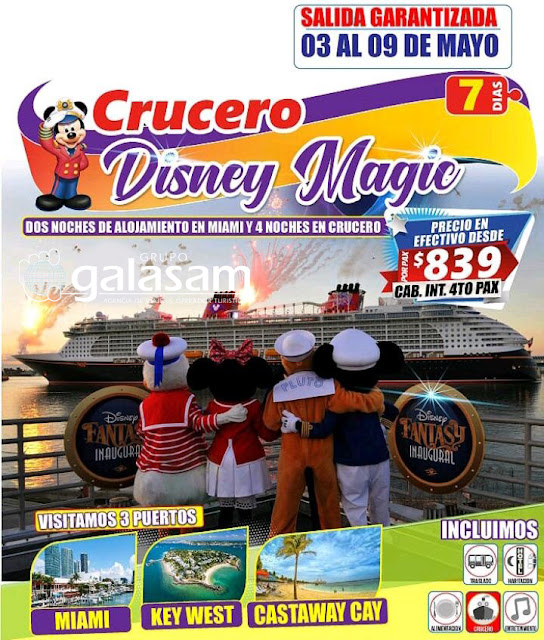 CRUCERO DISNEY MAGIC - MAYO 3 AL 9