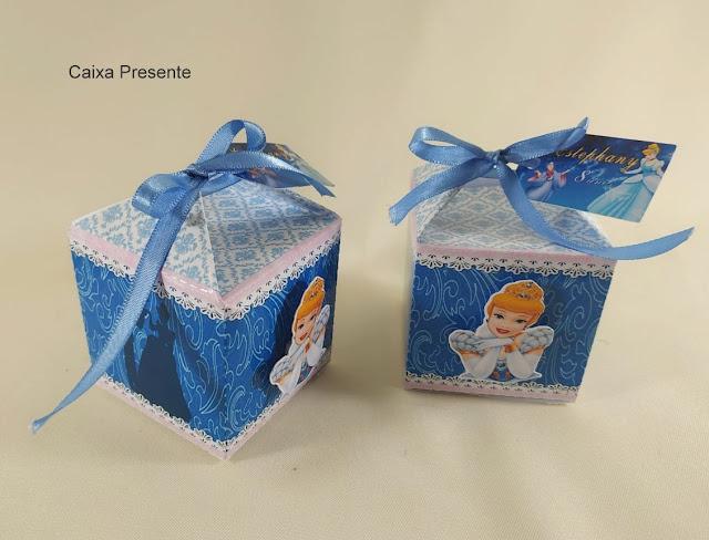 Caixa Presenete As Princesas  Disney dicas e ideias para decoração de festa personalizados