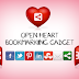 Awesome Slide Open Heart Bookmarking Gadget For Blogger