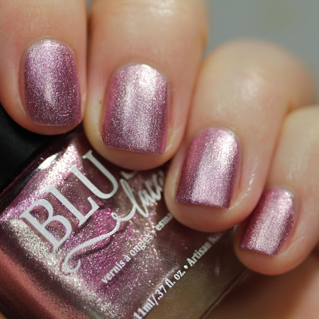 BLUSH Lacquers Attraction matte swatch by Streets Ahead Style