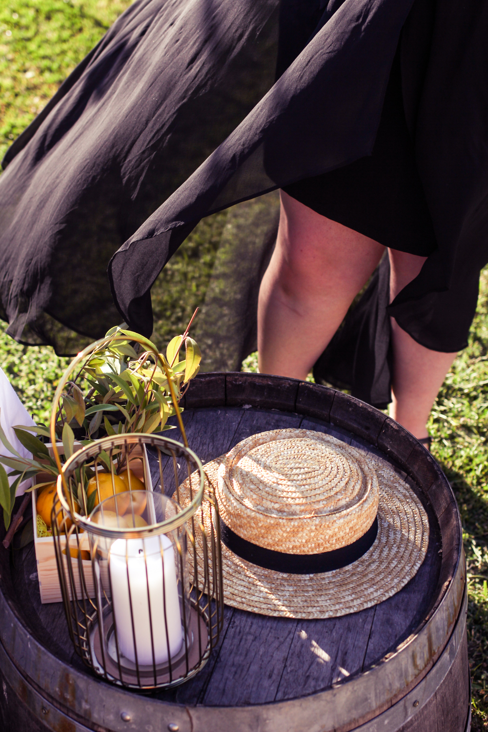 Liana of @findingfemme goes to a Pimm's topped dinner party