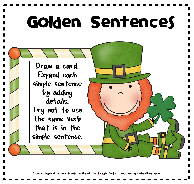 Pitner S Potpourri Lucky Sentences For St Patrick S Day