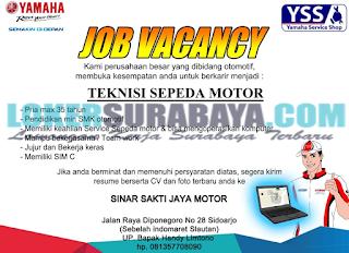 Job Vacancy Sinar Sakti Jaya Motor Surabaya Terbaru Juni 2019