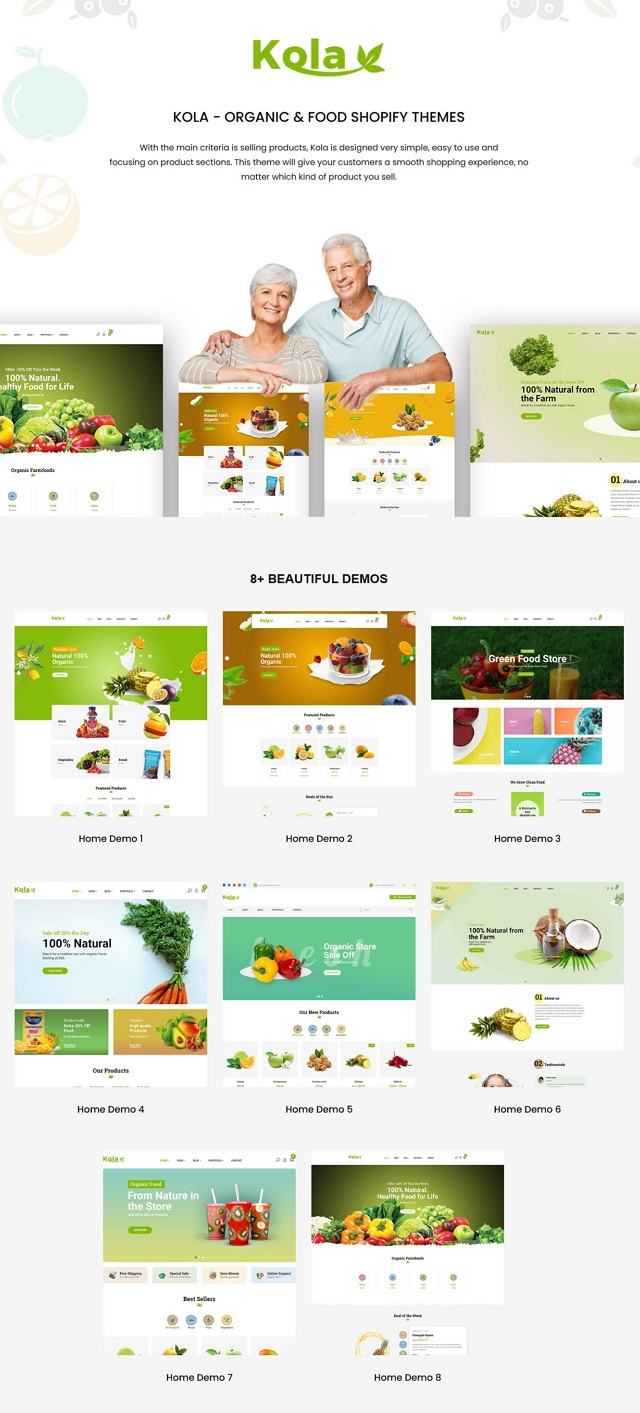 Best Organic & Food Shopify Themes