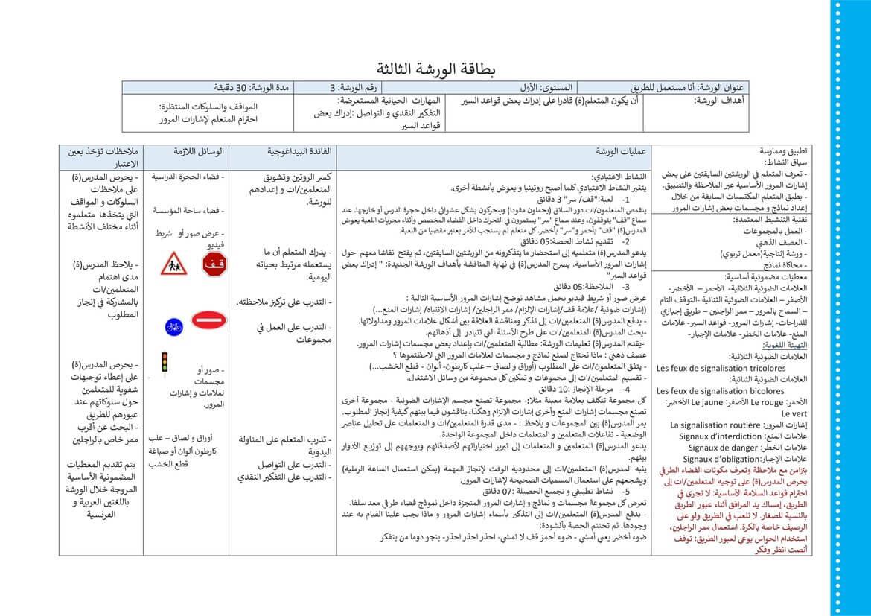 جذاذة بطاقة الورشة 3 أنا مستعمل للطريق الوحدة الثانية المستوى الأول pdf