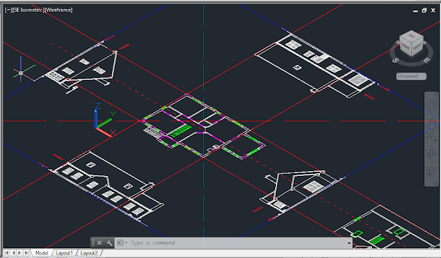 Isometric Views in AutoCAD, SE Isometric view