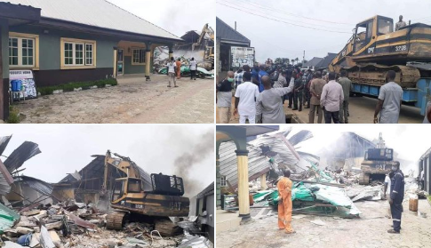 images result of governor wike demolishes two hotels